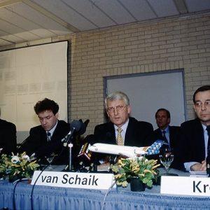 Ben van Schaik President Fokker, NL