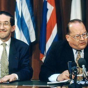 Willy Claus (Secretary General NATO), Jean-Luc Dehae (Premier Belgium)